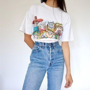 Vintage San Antonio Cats Graphic T-shirt